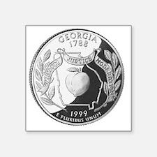 "georgia-black Square Sticker 3"" x 3"""
