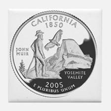 california-black Tile Coaster