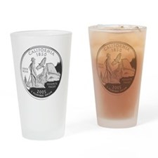 california-black Drinking Glass