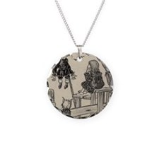 Dorthy, Scarecrow And Toto Necklace Circle Charm