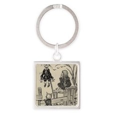 Dorthy, Scarecrow And Toto Square Keychain