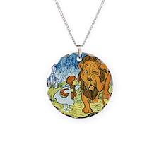 lion Necklace Circle Charm