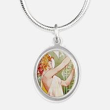 Absinthe Robette T. Privat-Li Silver Oval Necklace