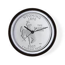 wyoming-black Wall Clock