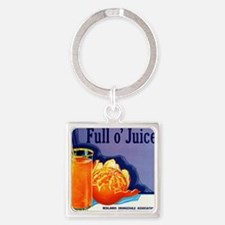 Full O Juice Square Keychain