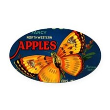 Mariposa apples Oval Car Magnet