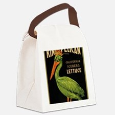 King Pelican Lettuce Canvas Lunch Bag