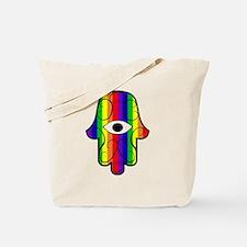 Rainbow Hamsa Tote Bag