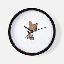 cats-black. Wall Clock