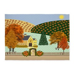 Pumpkin Hollow 5'x7'Area Rug