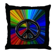 Back To School College 1960's Throw Pillow