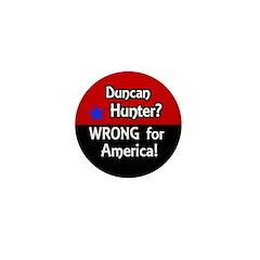 Duncan Hunter Wrong For USA pin