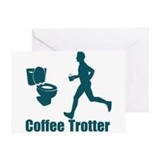 Coffee Trotter Greeting Card