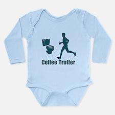 Coffee Trotter Long Sleeve Infant Bodysuit