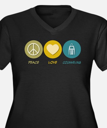 Peace Love Counseling Plus Size T-Shirt