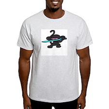 Ninja Monkey Ash Grey T-Shirt
