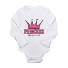 Custom Princess Long Sleeve Infant Bodysuit
