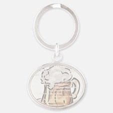 one more beer copy Oval Keychain