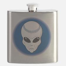 baseball alien head copy Flask