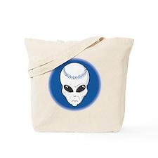 baseball alien head copy Tote Bag