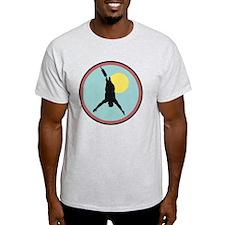 bungee jumping circle design copy T-Shirt
