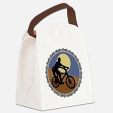 mountain biking chain design copy Canvas Lunch Bag
