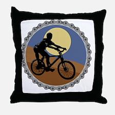 mountain biking chain design copy Throw Pillow