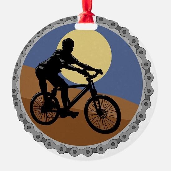 mountain biking chain design copy Ornament