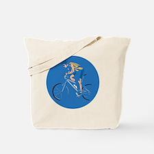 mountain biking circle design copy Tote Bag