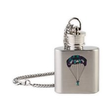 parachuting copy Flask Necklace