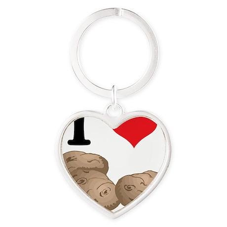 potatoes Heart Keychain
