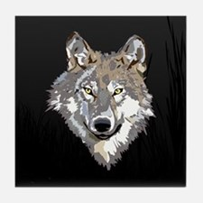 Lone Wolf Tile Coaster