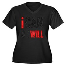 I Can And I  Women's Plus Size Dark V-Neck T-Shirt