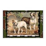 Bulldog Dog Painting Postcards(8)