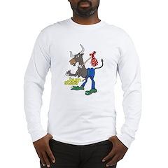 Bum Steer Cartoon (Front) Long Sleeve T-Shirt