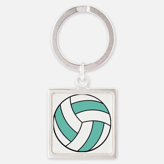volleyball belly Square Keychain