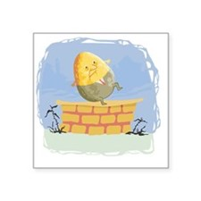 "humpty dumpty Square Sticker 3"" x 3"""