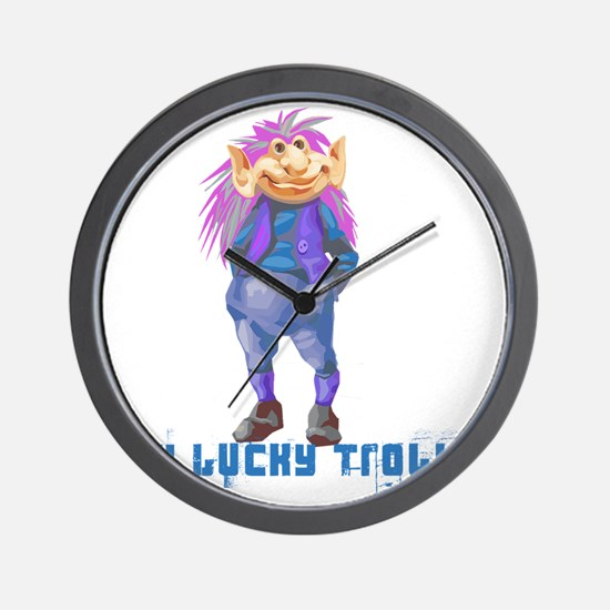 my lucky troll Wall Clock