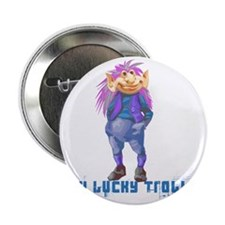 """my lucky troll 2.25"""" Button"""