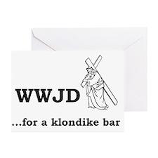 WWJD... for a klondike bar? Greeting Cards (Packag