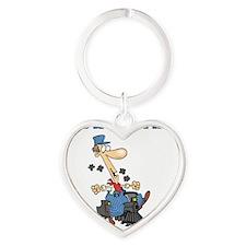 train Heart Keychain