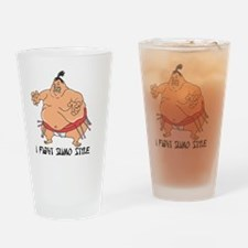 sumo style Drinking Glass
