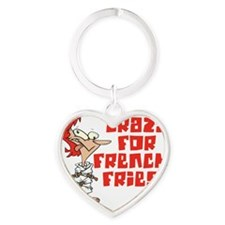 french fries Heart Keychain
