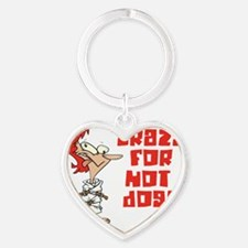 hot dogs Heart Keychain