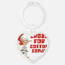 cotton candy Heart Keychain