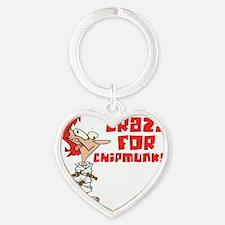 chipmunks Heart Keychain