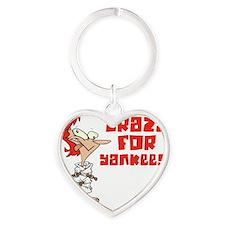 yankees Heart Keychain