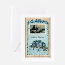 Best Wishes Blue Greeting Card