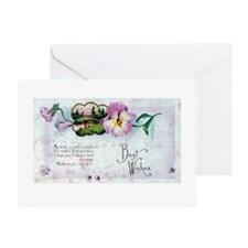 Best Wishes Pansy Greeting Card