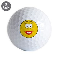 smiley3 Golf Ball